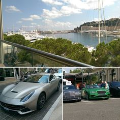 #PortHercule After driving around the F1 circuit, it's time for some lunch with quite a good view of some nice boats and cars. #Monaco #Yachts #MonteCarlo #Ferrari #Bentley by howells94 from #Montecarlo #Monaco