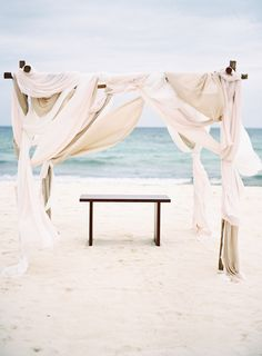 #beach, #chuppah, #canopy  Photography: Brandon Kidd Photography - brandonkidd.net  View entire slideshow: Favorite Beach Wedding Moments on http://www.stylemepretty.com/collection/1032/