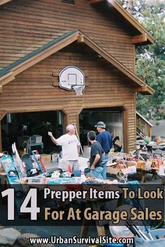 Garage sales are a great place to find deals on survival gear and other things you could use during a disaster. Here are 14 prepper items you should look for. Zombie Apocalypse Survival, Survival Mode, Urban Survival, Homestead Survival, Camping Survival, Outdoor Survival, Survival Prepping, Survival Skills, Emergency Planning