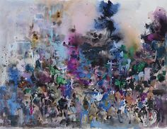 """Singapore Watercolour Oil Painting Ng Woon Lam - Piccadilly Impression (I), London  25 """"x 34"""" Watercolor on Paper"""