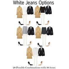 White Jeans Options by charlotte-mcfarlane on Polyvore featuring Uniqlo, Polo Ralph Lauren, 7 For All Mankind and Kurt Geiger