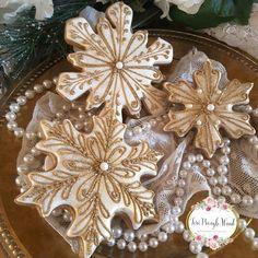 Snowflake cookies, Christmas cookies, gingerbread cookies, keepsake cookie gift, decorated cookies