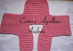 Colors and Needles: Bebe in Cardigan Knitting Rosinha Love Knitting, Knitting For Kids, Crochet For Kids, Baby Knitting, Baby Pullover, Baby Cardigan, Crochet Bebe, Knit Crochet, Tricot Baby