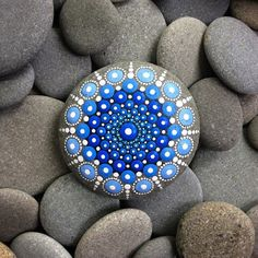 beautiful colorful stones with dots