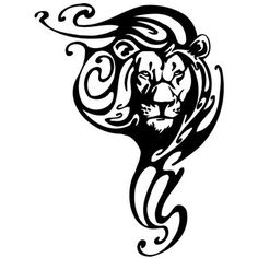tatuaggio leone stile tribale.jpg (380×380)