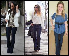 03 Calça jeans para disfarçar quadris largos_coxas grossas_calça flare_calça reta