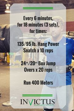 Here's a fun but challenging workout from the Invictus July 2nd Performance CrossFit Workout