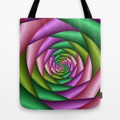 Fractal Colorful Tunnel by Gabiw Art as a high quality Tote Bag. Worldwide shipping available at Society6.com.
