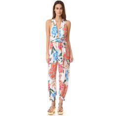 Mara Hoffman Crinkle Crepe Jumpsuit ($325) ❤ liked on Polyvore featuring jumpsuits, crepe jumpsuit, jump suit and mara hoffman