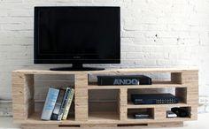 modèle tv console, idée comment fabriquer un meuble TV
