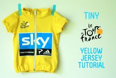 Tiny Tour de France Yellow Jersey Tutorial (based on the Flashback Tee sewing pattern from Made by Rae)