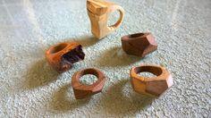 Anelli in legno - Pezzi unici - Artigianato