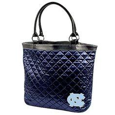 North Carolina Tar Heels (UNC) Ladies Navy Blue Quilted Tote Bag