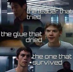 I'm not gonna accept the fact that Newt...d..d...died *breaks down in sobs and curls up in a ball to drown in tears*