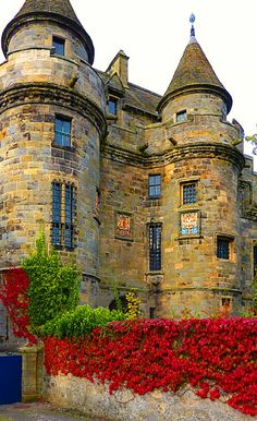 I picture Cameron Castle much like this. Medieval, Falkland Castle, Fife, Scotland photo via leilani Fife Scotland, Scotland Castles, Scottish Castles, England And Scotland, Scotland Travel, Chateau Medieval, Medieval Castle, Medieval Life, Beautiful Castles