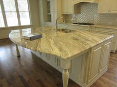 L and L of Raleigh built this custom kitchen island inside the beltline
