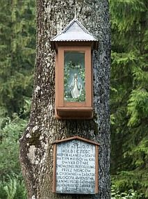 This shrine is in Poland. Look at the intricate work and detail and the care taken to keep it 'kept up'.