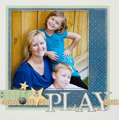 Play...One Large Photo Layout