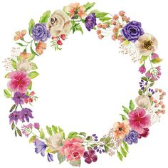 VK is the largest European social network with more than 100 million active users. Art Floral, Floral Prints, Flower Clipart, Art Clipart, Clipart Images, Flower Circle, Flower Frame, Wreath Watercolor, Watercolor Flowers