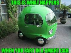 This is what happens when you fart I'm a smart car