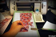 How to cut fabric with the #Cricut #tutorial #crafts