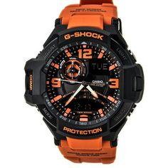 awesome G-Shock Unisex G-Aviation Twin Sensor GA1000 Black/Orange - For Sale Check more at http://shipperscentral.com/wp/product/g-shock-unisex-g-aviation-twin-sensor-ga1000-blackorange-for-sale/