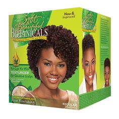 Soft & Beautiful Botanicals Texturizer is formulated to enhance the natural wave and curl pattern with no-lye and no mix for your convenience. Leaves hair soft, curly and natural looking. Texturizer On Natural Hair, Natural Curls, Natural Hair Styles, Twist Hairstyles, Down Hairstyles, Pixie Hairstyles, Short Haircuts, Beautiful Textures Naturally Straight, Sculpting Foam