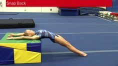 Snap Back Drill To create a long straight backhandspring the snap back into it must be tight and quick. Using a raised surface such as the folding incline wi. Gymnastics At Home, Gymnastics Lessons, Preschool Gymnastics, Gymnastics Tricks, Gymnastics Floor, Tumbling Gymnastics, Gymnastics Coaching, Gymnastics Workout, Gymnastics Academy
