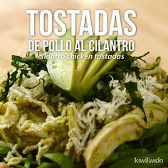 Video de Tostadas de Pollo al Cilantro Manger Healthy, Comida Diy, Deli Food, Cooking Recipes, Healthy Recipes, Enchiladas, Mexican Food Recipes, Indian Recipes, Dessert Recipes