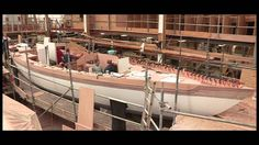 HYPNOTIC Video of Wooden Boat Build Process Modern Technology - YouTub. - Hobbies paining body for kids and adult Wooden Boat Building, Boat Building Plans, Boat Plans, Wooden Sailboat, Wooden Boats, Floating Boat, Classic Sailing, Build Your Own Boat, Yacht Boat