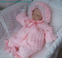 P Lilac Blossom Baby Crochet Pattern