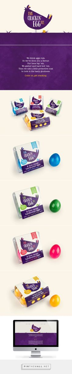 The Crackin' Egg Co. packaging designed by Robot Food​ - http://www.packagingoftheworld.com/2015/12/the-crackin-egg-co.html