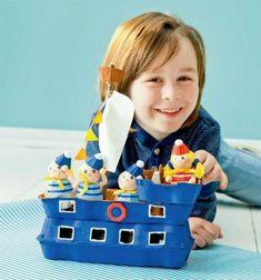 Das Eierkarton-Bastelbuch - New Site Diy Crafts To Sell, Diy Crafts For Kids, Fun Crafts, Boat Crafts, Recycled Toys, Recycled Crafts, Toddler Crafts, Preschool Activities, Egg Box Craft