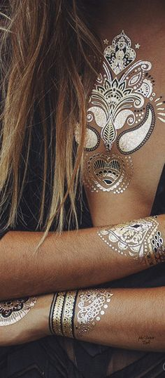 Bobo Tats  ≫∙∙☮ Bohème Babe ☮∙∙≪• ❤️ Curated  by Babz™ ✿ιиѕριяαтισи❀ #abbigliamento #bohojewelry #boho