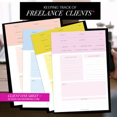 HOW TO KEEP TRACK OF FREELANCE CLIENTS & PROJECTS