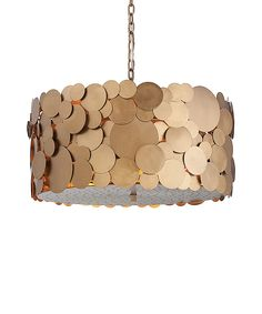 Ulysses 3L Iron Disc Chandelier - LIGHTING - Chandeliers