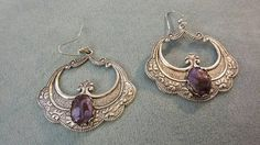 Check out this item in my Etsy shop https://www.etsy.com/listing/491844838/purple-oak-leaf-earrings-victorian-leaf
