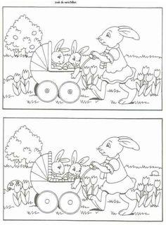 trouver les différences : thématique de Pâques