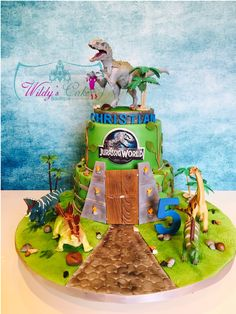 Looking for cake decorating project inspiration? Check out Jurrasic World theme cake by member Wilda De Jesus.