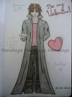"""Le thème de ce dessin est """"Be my valentine""""    La ligne de """"Hanakoya"""" est seulement la pour limiter un peu les vols de créations.      The theme of this drawing is """"Be my valentine""""    The line of """"Hanakoya"""" is only there to limit a little the steal of creations."""