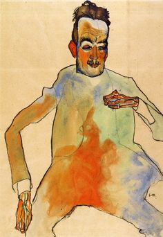 Egon Schiele: The Cellist, 1910.