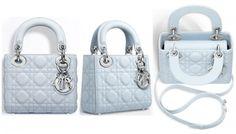 Lady Dior Mini | 6.7″ x 5.9″ x 2.8″ | Lambskin with leather strap $2,900.00 (USD) | Lambskin with chain strap $3,100.00 (USD)