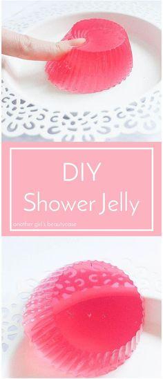 Ein einfaches Rezept, um Shower Jelly selbst zu machen - fast so wie bei Lush.