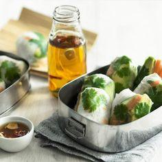 Vietnamilaiset kesärullat. Sydänmerkki / Ulla-Maija Hänninen Fresh Rolls, Ethnic Recipes, Food, Eten, Meals, Diet