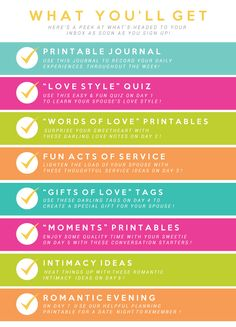 Get ready to have a great time learning how to love your spouse! What's that, you already know how? Well, The Dating Divas are here to give you a whole new perspective on delighting your better half with our incredible 7 Days of Love Program… and its absolutely free when you sign up for our newsletter! Each day, for the...