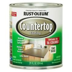 Rust-Oleum Specialty Dark base Satin Countertop Resurfacing Kit (Actual Net Contents: oz) at Lowe's. With Rust-Oleum Countertop coating, you can renew laminate countertops, cabinets and furniture. In addition, it contains HomeShield(TM) Antimicrobial Rustoleum Countertop, Countertop Paint Kit, Resurface Countertops, Painting Countertops, Kitchen Countertops, Giani Granite, Countertop Makeover, Faux Granite, Painting Cabinets