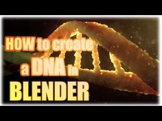 How to create a DNA in Blender [Tutorial]-german Blender 3d, 3d Computer Graphics, Blender Tutorial, Modelos 3d, Modeling Tips, Game Design, 3d Design, 3d Tutorial, Unreal Engine