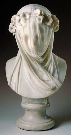 Veiled Lady by Raffaelo Monti (1860)  Marble  Minneapolis Institute of Arts, Minneapolis, MN, USA