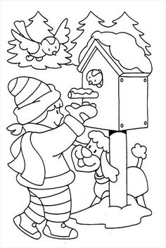 Winter Coloring Pages for children Coloring Pages Winter, Coloring Sheets For Kids, Christmas Coloring Pages, Colouring Pages, Coloring Pages For Kids, Coloring Books, Bible School Crafts, Winter Crafts For Kids, Christmas Embroidery