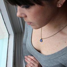 Starry Eyed Mini Pendant Necklace Wanderlust by DittyDrops